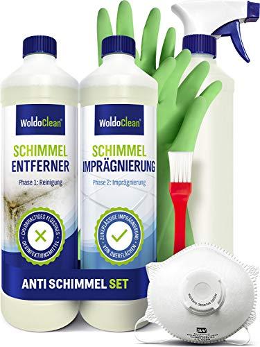 Schimmelentferner Set gegen Schimmel chlorhaltig - für Bad Wand Silikonfugen Dusche uvm.