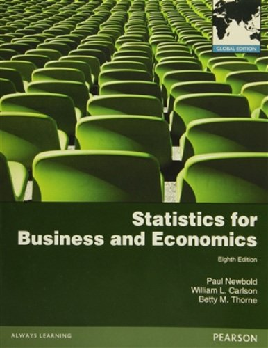 Statistics for Business and Economics: Global Edition por Paul Newbold