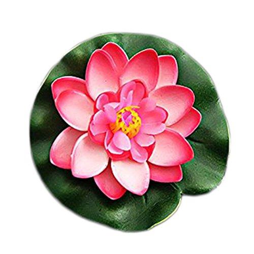 Cdet Künstliche Blumen Fake Blumen Überlappende Blütenblätter Seerose Pooldekoration Lotus Künstliche pflanzen Zum Hochzeit Festival Dekorative Blumen Haus Dekoration Café Hotel Dekorative Blumen