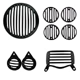 Autofy Metal Grill for Royal Enfield Bullet Standard 350 & 500 (Black, Set of 8)