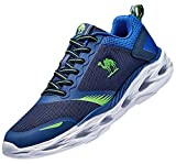 CAMEL Herren Turnschuhe Fitnessschuhe Sportschuhe Atmungsaktiv Laufschuhe Ultraleicht Gym Turnschuhe (44 EU=8.5 UK=Fußlänge 27cm, Blau)