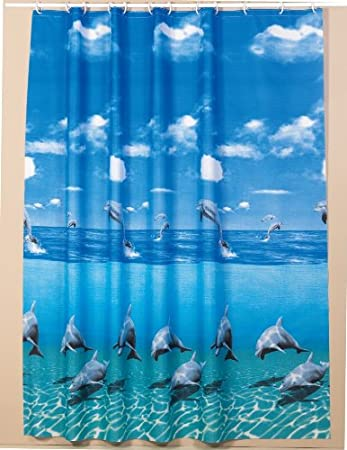 Beautiful extra long shower curtain wide 240cm x length 200cm ...