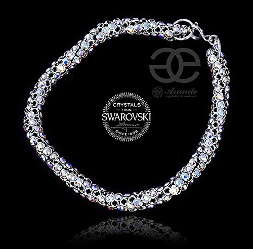 Imagen de cristales de swarovski beautiful unique pulsera 925plata de ley aurora cristalizado certificado alternativa