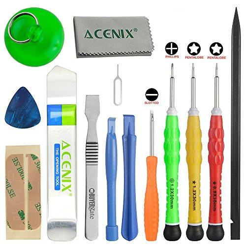 Iphone Tool Kit (ACENIX® vollständigste Premium-Repair Tool Kit für Apple iPhone 4, 4S, 5, 5C, 5S, 6, 6 Plus, 6s, 6s Plus, 7, 7 Plus, iPad 4, 3, 2, iPad Mini, iPod & viele mehr [14 Stück])