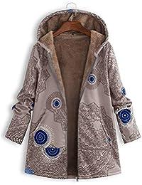 Modaworld_Chaqueta de mujer Chaqueta Abrigo Mujer Abrigo Largo con Cremallera para Mujer Abrigo de Gran tamaño