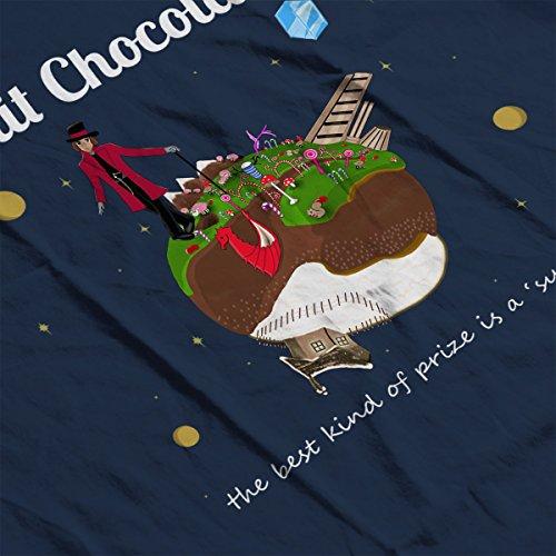 Le Petit Chocolatier Willy Wonka Women's Hooded Sweatshirt Navy Blue