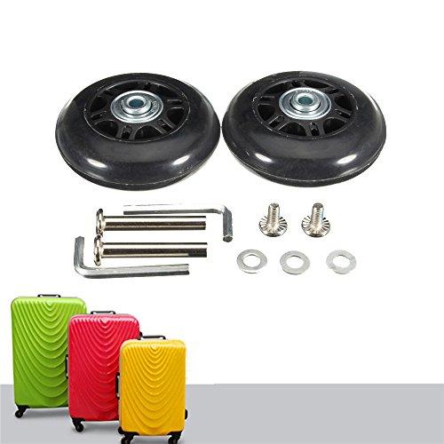 64x 18mm 2schwarz Ersatz Gepäck Koffer/Roller Inline Skate Rollen Achsen Deluxe Reparatur mit ABEC 608ZZ Kugellager (Skate-ersatz)