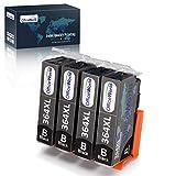 OfficeWorld 364XL Pack de Cartouches d'encre Noir,Substituable à HP 364 364XL,Compatible avec HP Photosmart 5510 5512 5515 5520 5522 5525 5524 6510 6520 B110a B109a Deskjet 3070A Officejet 4620