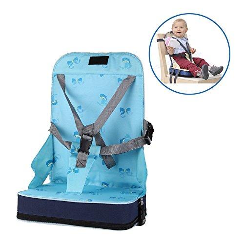 StillCool Boostersitz mobiler aufblasbarer Kindersitz als Sitzerhöhung Stuhl Kindersitzerhöhung und Reisesitz, ideal als Hochstuhl für unterwegs für Babys und Kleinkinder (Blau)