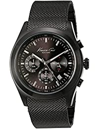 amazon co uk kenneth cole watches kenneth cole kc9183 mens quartz analog watch stainless steel strap black