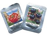 Tomaten Samen 2er Set - je ca. 100 Tomatensamen/Pack - RARITÄTEN Schwarze Cherry Tomate