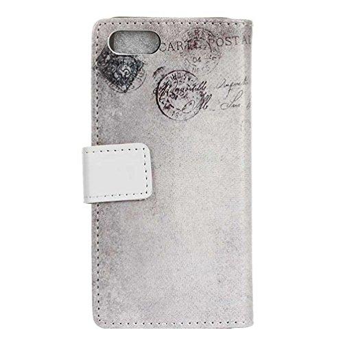 Coloré Motif PU Cuir portefeuille Housse Etui pour iPhone 7 (4,7 pouces) Case Coque Protection Flip Cover avec carte de crédit Slots (KW19#) KW16#