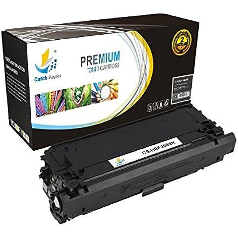 CatchSupplies reemplazo CF360X cartucho de tóner Negro de Alto Rendimiento para la serie HP 508x | 12.500 rendimiento | compatible con la impresora HP Color LaserJet Enterprise M552, M553dh, M553n, M553x, M553dn, MFP M577