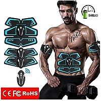 Abdominal Tonificación Cinturón, EMS Músculo Estimulador ABS Entrenador Fitness USB Carga con Control Remoto Muscular Tonificante Músculo Abdominal Ejercitar Cinturones