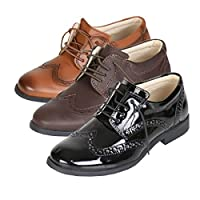 Flamingo Boys Oxford Lace Up Formal Wedding Communion Shoes