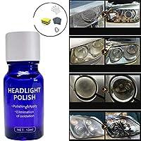NEWLUK Headlamp refurbishing agent丨High Density Headlight Polish Liquid Cars Restoration Fluid丨Durable Repair&Avoiding Car Scratches, As New Detergent (Multicolor-10ML)