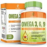 Earths Design Omega 3 Fish Oil, 1000mg, High Strength EPA DHA for Brain, Heart & Joint Health - 120 Capsules