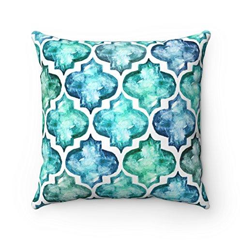 43x 43cm-Marca de agua azulejos azulejos mosaico marroquí cojín funda de almohada-azul...