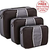 Packing Cubes -Travel Packing Luggage Accessories - Set of 3 Carry On Organisers ** FREE ** Travel Checklist ** FREE ** Air Travel Tips