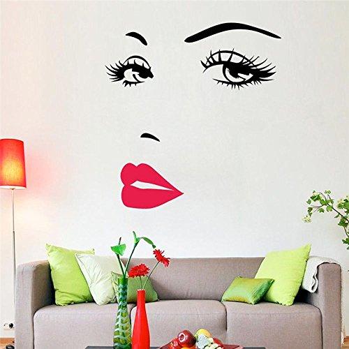 Adesivi Murali Audrey Hepburn.Malloom Audrey Hepburn Silhouette Muro Occhi Adesivi Murali Camera