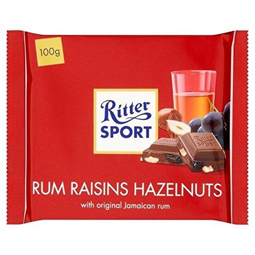 Ritter Sport Rum, Uvetta E Nocciole 100 g Di Cioccolato Al Latte (Confezione da 2)