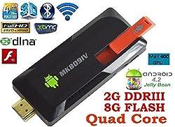 Android Mini PC, Android TV Stick, Latest Model, MK809 IV Quad Core RK3188