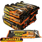 FLAMEFAST INSTANT-LIGHT SMOKELESS FIRE LOG BURNS FOR 2-3 HOURS (CASE 12) by Flamefast