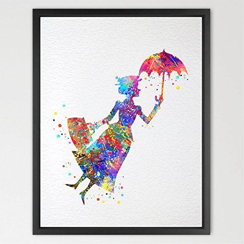 dignovel Studios Mary Poppins Aquarell Illustration Art Print Art Wand Kinderzimmer Decor...
