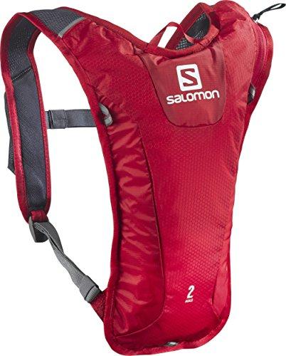 Salomon Super leichter Rucksack, 3 Liter, zum Skifahren, Snowboarden oder Laufen, 40 x 20 x 2 cm, 171 g, Agile 2 Set, rot (matador), L39291000