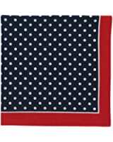 Bandana or Large Handkerchief (B27) - New Design Large Navy With White Polka Dots and Red Border