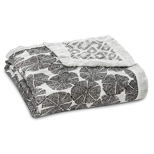 aden + anais couverture de rêve silky soft, 100% viscose de bambou, 120cm x 120cm, in motion - wedges