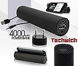 Techwich Power Jam 3 in 1 Speaker / Mobile Stand / 4000mah Power Bank Image