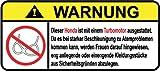 Honda Turbo Motor German Lustig Warnung Aufkleber Decal Sticker