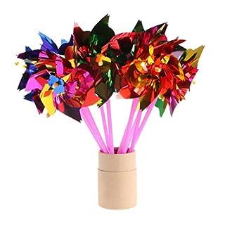 Dairyshop buntes Windspiel / Windmühle / Windrad aus Kunststoff, für Hochzeit, Kinderparty, 10 Stück