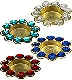 #7: ITOS365 Diwali Diya Lights Candle Holder Home Decoration, Set of 4