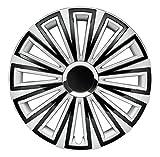 CM DESIGN 15 Zoll Sunset Silber Schwarz, Passend für Fast Alle Ford z.B. für Fiesta MK7 JA8 Ohne Fußstütze