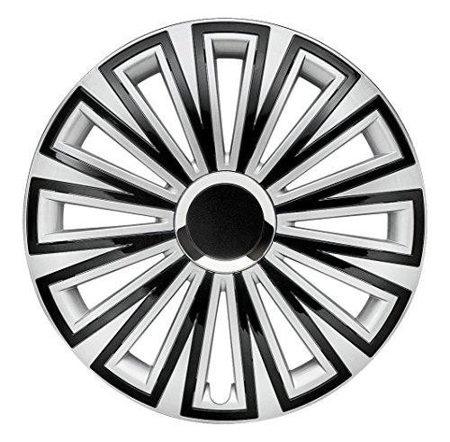 CM DESIGN 16 Zoll Sunset Silber Schwarz, Passend für Fast Alle VW z.B. für T5