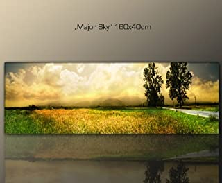 Wandbild 160x40cm Natur (major_sky_160x40 cm) Wohnzimmer ...