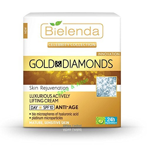 GOLD&DIAMONDS Luxury Actively Lifting Day Cream ANTI-AGE SPF10 50ml by Bielenda