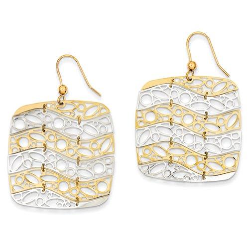 Oro bianco 14k Leslies 4,00 millimetri Diamond Cut corda catena UKGems - 14k White Gold 4.00mm Diamond Cut Rope Chain