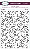 Creative Expressions Prägeschablone Herzen, 18x 13,4x 0,4cm