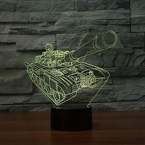 YDBDB Nachtlicht 3D Tank Modellierung Led Tischlampe 7 Farben Ändern Usb Nacht Baby Sleeper Lighting Decor Für Kinder Geschenke Urlaub Sleeper