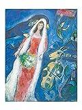 Marc Chagall - La Mariee, 1950 Poster / Kunstdruck (60 x 80)
