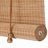 Persiana Enrollable Cortina de Bambú Retro Sombreado Anti-Polilla a Prueba de Humedad, para Puertas/Ventanas/Balcones,80x100cm