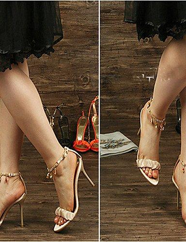 UWSZZ IL Sandali eleganti comfort DONNE - Sandali - Tacchi - A stiletto Seta - Nero/Dorato/Arancione Orange