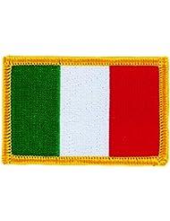 Patch écusson brodé drapeau italie italien italia flag thermocollant backpack