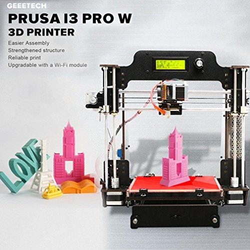Geeetech Impresora 3D, de madera Prusa I3 Pro W de madera 3D de escritorio Kit de bricolaje con la...
