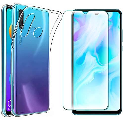 AOBOK [2 Stück], Hülle für Samsung Galaxy A20E, Panzerglas für Samsung Galaxy A20E, Transparent Weiche Silikon [ Ultradünnen ] Flexibel Bumper Handyhülle TPU Kratzfest Handy Schutzhülle