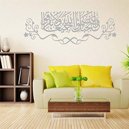wandaufkleber schmetterlinge 3d DIY Abnehmbare Islamische Muslimische Kultur Surah Arabisch Bismillah Allah Vinyl Aufkleber Koran Zitate Kalligraphie als Home Mural Art Decorator