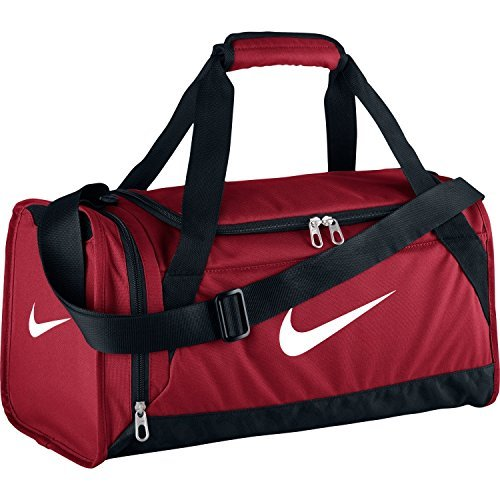 Nike Damen Brasilia Duffel Bag, Gym Red/Black (Nike Schuhe Tasche Golf)